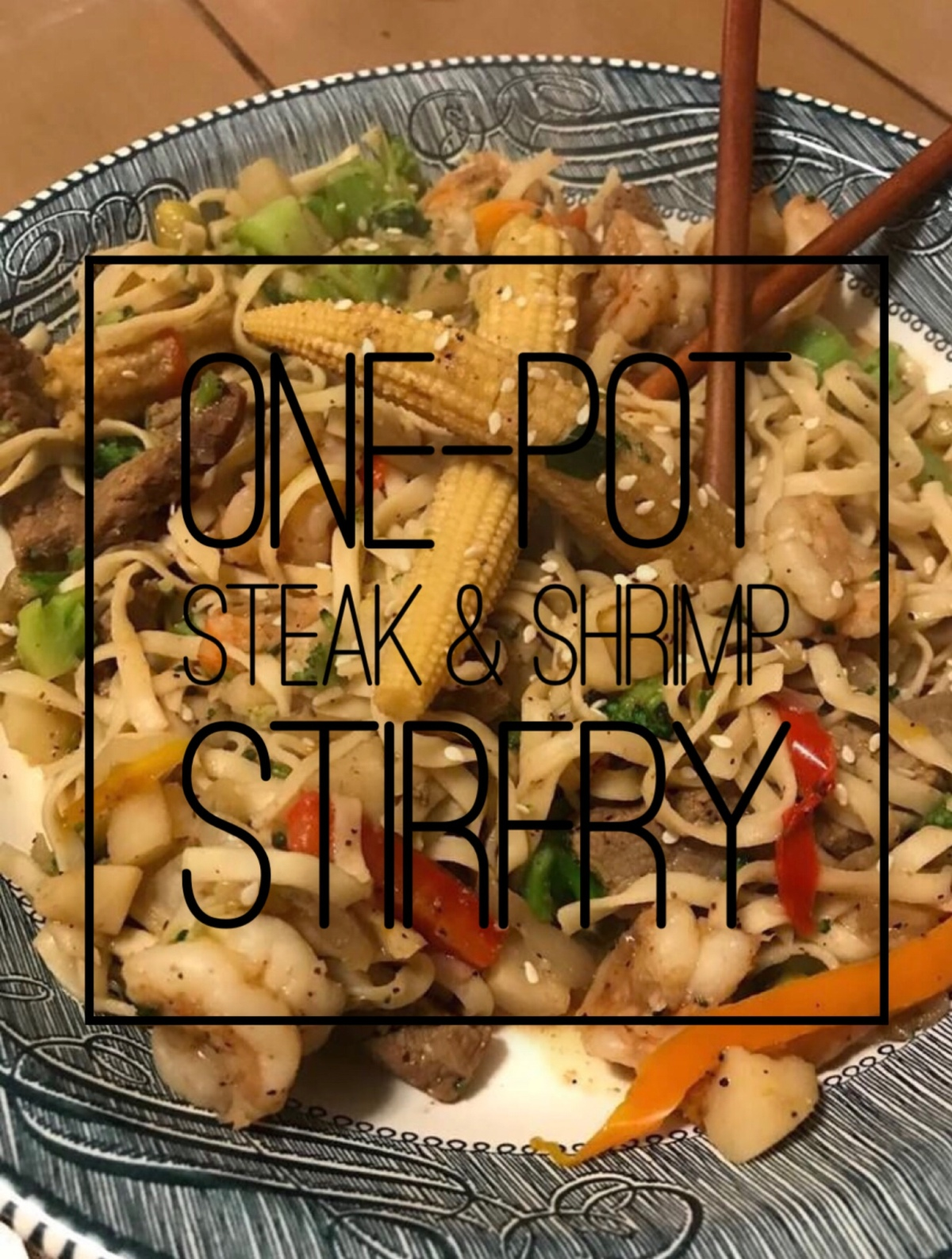steak and shrimp stir-fry