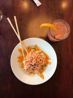 Mai Tai & Spicy Kani Salad over Cucumber!