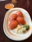 My favorite, Salmon Sushi!